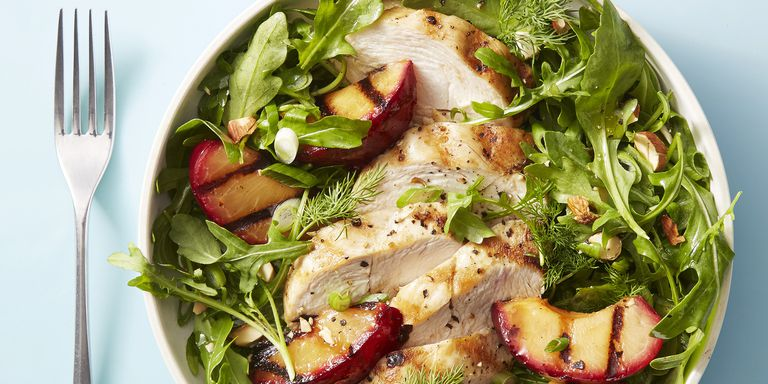 Chicken and Red Plum Salad