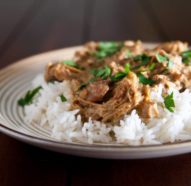 Chicken Marsala Over White Rice