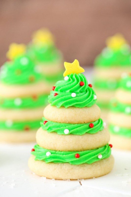 Christmas Tree Cookie Stacks