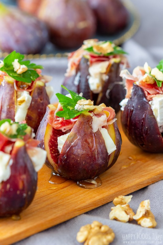 Figs with Goat Cheese and Spanish Jamon