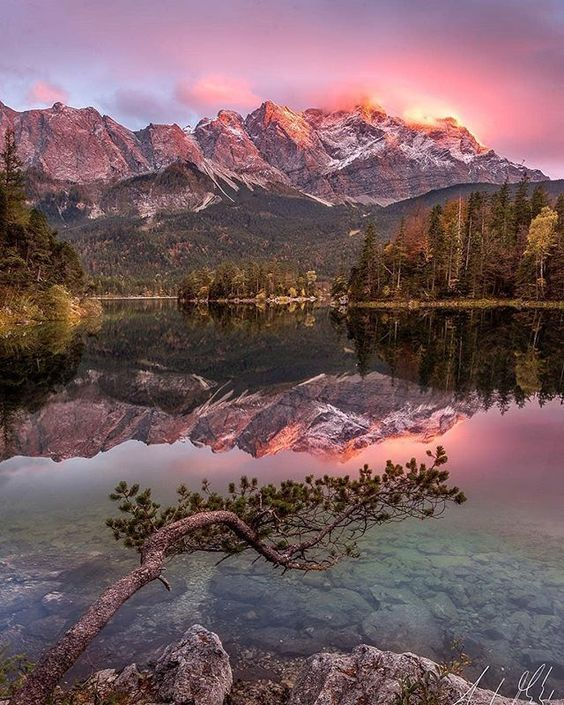 Eibsee Lake Bavaria, Germany