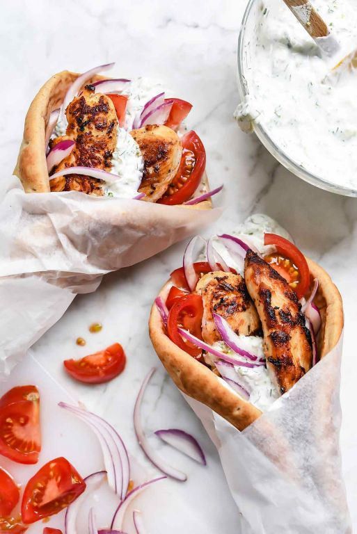 Greek Chicken Gyros With Tzatziki Recipe