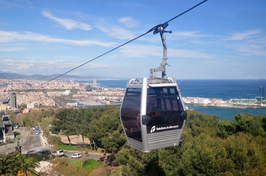 Barcelona's Montjuic Cable Car Ride: Round Trip Ticket